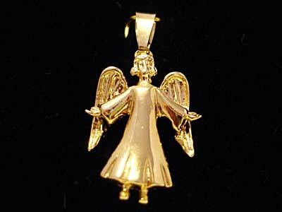 hängsmycke guld ängel